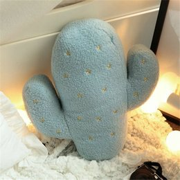 Wholesale Flowers Puzzle - Wholesale- Creative Cactus Pillow Children Puzzle Plush Toy Sofa Cushions Home Decorations Children Pamper Doll Gift Z0060