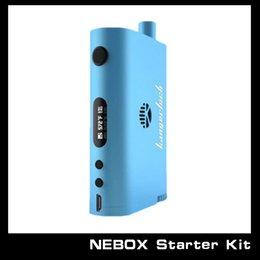 Wholesale E Cigarette Starter Kit Kanger - Wholesale - Kanger New Nebox Starter Kit Temperature Control Mod E cigarette 18650 Battery Nebox With 10ml Capacity Tank