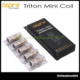 Atomizador de triton on-line-Autêntico Aspirar Triton Mini Atomizador Cabeças Bobinas de Substituição 0.15ohm 1.2ohm 1.8ohm Triton Mini Para Aspire Triton Mini Nautilus Mini