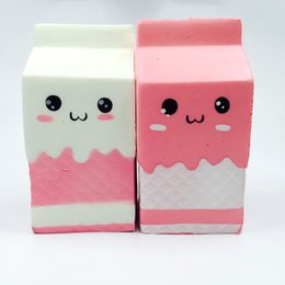 Wholesale Kawaii Gift Box - squishies wholesale 20pcs kawaii jumpo squishy milk box melkpak slow rising with packages scented squeeze toy kids gift Free Shipping