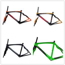 2019 frame da bicicleta da estrada da fibra do carbono 48cm RB28 cabo integrado quadro de multi completa fibra de carbono 700c estrada bicicleta e garfo brilhante / fosco / cor laranja branco / ouro pintado