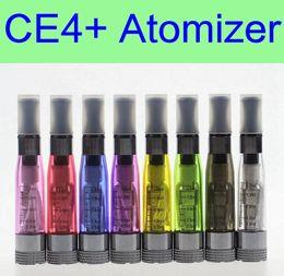 Evod plus on-line-10 pcs por lote CE4 + plus Atomizador 1.6 ml bobina substituível 8 cores tanque vaporizador clearomizer para bateria ego EVOD X6 X9