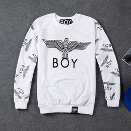 Мальчик лондон орел балахон онлайн-Wholesale-2015 winter autumn fashion Boy London sweatshirt men women Eagle hip hop casual hoodies  printed sportswear free shipping
