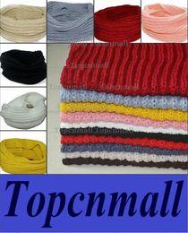 Wholesale Ladies Wool Blend Wrap Shawl - Women Ladies Girls Warm Knit Neck Circle Wool Blend Cowl Snood Scarf Shawl Wrap new free shipping