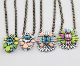 Shourouk dei monili di modo online-Collane Shourouk all'ingrosso-moda per le donne nuovo 2015 Shourouk Vintage Retro Partito gioielli pendente collana lunga