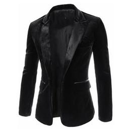 Wholesale Black Cashmere Blazer - New Arrival 2015 Men Blazers Autumn Winter Fashion Slim Casual Suits Velvet Jacket Blazer Masculino 3 Colors M-2XL Plus Size FG1511