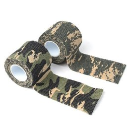 Wholesale Hunting Tape - Free Shipping 5cmx4.5m Army Camo Outdoor Sports Hunting Shooting Tool Camouflage Stealth Tape Waterproof Wrap Durable Useful