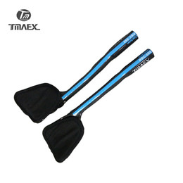 Wholesale Blue Rest - TMAEX Full Carbon Fiber Road Blue TT Rest Handlebar Carbon TT Bar City Bike Parts Rest Ends Handlebar 3K Blue Glossy 340mm
