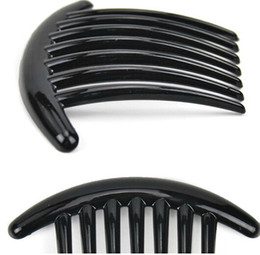 Wholesale Leather Hair Combs - plastic magic types of hair comb black color Bridal Cuff Jewelry Accessories Women Hair Clip hair brush ABS 11X7.5CM 10pcs lot HQS-G102639