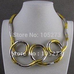 "Wholesale Wholesale Bendy Necklace Jewelry - Wholesale-Wholesale Hot sale Trendy bendy ""snake"" Necklace Bendable Bendy Twisty fashion jewelry necklace& bracelet free"