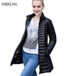 Wholesale Light Down Jacket Women S - HIJKLNL Donsjas Puffer Jacket 2017 New Plus Size Women Ultra Light Down Jacket Female Parkas Simple Down Duck Coat LH1085