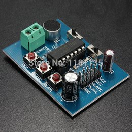 Wholesale Sound Board Microphone - New ISD1820 Voice Sound Board Recording Recorder Playback Module On-board Microphone Free Shipping