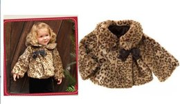 Wholesale Leopard Toddler Coat - Wholesale-2015 baby girls Fur Coat Leopard Winter style Warm toddler girl clothes princess hot sale high quality vestido infantil conjunto