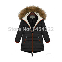 Wholesale Lambs Wool Padding - Wholesale-2015 Women Long Sleeve Thicken Hooded Parka Winter Coat Plus-size hooded lambs wool with thick cotton-padded clothes