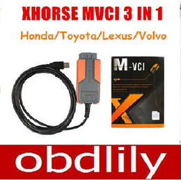 Wholesale Opel Tis - Free Shipping Xhorse MVCI 3 IN 1 fortoyota TIS V10.10.028 hd him V2.018 forvolvo 2010A Support Multi-languages