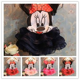 Wholesale Cartoon Girls Beautiful Clothes - Wholesale-Beautiful New girls Summer dress Cartoon mouse suit princess girls sleeveless clothes Party christmas Costume 5 colors TZ037