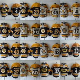 Wholesale Zdeno Chara - Boston Bruins Hoodies Jerseys 4 Bobby Orr 33 Zdeno Chara 37 Patrice Bergeron 77 Ray Bourque 63 Brad Marchand 17 Milan Hockey Hooded Sweats