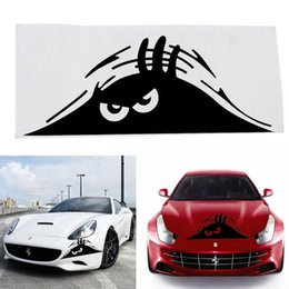 Wholesale Funny Car Graphics - High Quality Funny Peeking Monster Auto Car Walls Windows Sticker Graphic Vinyl Car Decals Car Stickers Accessories car-styling