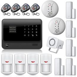 Systèmes de sécurité intrus en Ligne-APP Control Power Socket Intrusseur sans fil Sécurité anti-effraction wifi GSM Système d'alarme G90B avec détecteur de fumée sans fil