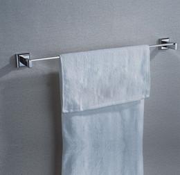 2019 porte-serviettes en bronze Porte-serviettes 24,6 pouces Chrome poli unique porte-serviettes avec laiton, accessoires de salle de bains forte