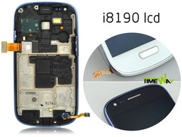 Wholesale Oem Glass For S3 - Wholesale-New For Samsung S3 Mini I8190 LCD Original OEM display touch screen with digitizer glass + Frame with warranty. Free shipping