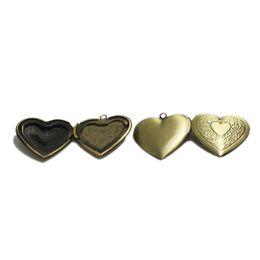 Wholesale Photo Engravings - Beadsnice heart photo locket charm personalized locket frame pendant flower engraved locket mothers day gift family locket ID 3354