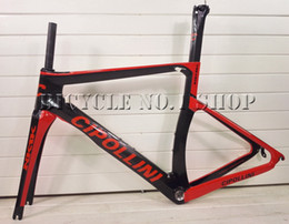 Wholesale 1k Carbon Road Frame - 2018 NEW T1000 3k 1k UD MCipollini NK1K Cipollini carbon road bike frame racing bicycle frameset taiwan frames XDB ship