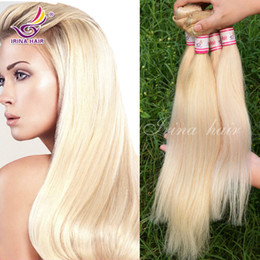 Wholesale Thick Bundle Brazilian Hair - Grade 7a Brazilian honey blonde straight hair weave unprocessed 613 russian blonde virgin hair extension 3pcs lot thick human hair bundles