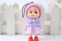 Wholesale Toy Grid - Children's Creative Plush Evade Glue Toys 8 CM Grid Clown Confused Doll The Wedding Gift Doll Cute And Lovely Heat In 2015