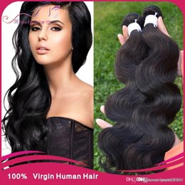 Wholesale Shop Wholesale Hair Color - 7A Peruvian Virgin Body Wave 3pcs lot Hot Princess Hair Shop Virgin Hair puruvian hair bundles grace hair products deal 3,4,5pcs lot