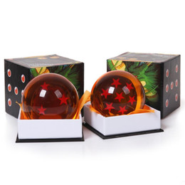 Wholesale Dragon Ball Z Stars - Dragon Ball Z Super Big 7CM Animation DragonBall 7 Stars Crystal Ball new in box Retail Free Shipping