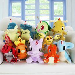 Wholesale Pokemon Raichu - Poke plush toys 10 styles Cyndaquil torchic Mewtwo Charmander Lapras Dragonite Raichu Chikorita Snorlax Plush Toys Soft Dolls NEW years gift