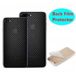 Wholesale Package Stickers - New For iPhone X 8 Plus 3D Clear Screen Protector Carbon Fiber Back Film Sticker Anti-fingerprint For iphone 7 6s plus With Retail Package