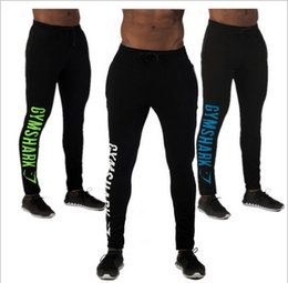 Wholesale New Mens Pants - New Casual Fitted Tracksuit Bottoms Golds Gym Pants Mens Sports Joggers Elastic Sweat Pants Gymshark Bodybuilding Sweatpants free shiping