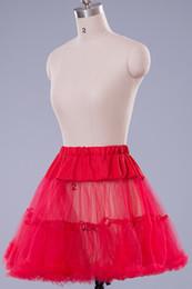 Wholesale Swing Petticoats - Multi-color Cheap Vintage Wedding Petticoat Underskirt Swing Fancy Net Skirt Rockabilly Tutu for Pageant Prom Dresses 8 Colors Choose CPA216