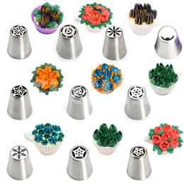 Wholesale Decorating Sets - 11PCS Stainless Steel Nozzle set Russian Tulip Flower Tip Pastry Tools Icing Piping Nozzle cake Decorating Tools Confectionery baking tools