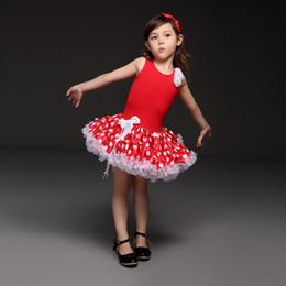 2019 patrones de vestido sin mangas Pettigirl Hot Sale Red Baby Girls tutú Vestidos Moda Patrón de punto Princesa Vestido Novely Y Hermosos Niños Ropa TD21013-06 patrones de vestido sin mangas baratos