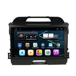 "Wholesale French Tv Networks - 9"" Android 6.0 Auto Radio Stereo For Kia Sportage 2010-2015 GPS Car DVD OBD DVR BT Phonebook 1080P Quad Core 1+16G RAM WIFI 4G Network"