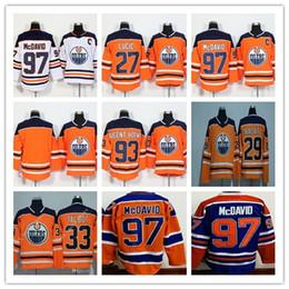 Wholesale ryan nugent hopkins - 97 Connor McDavid Jersey 2017-2018 Edmonton Oiler 27 Milan Lucic 29 Leon Draisaitl 93 Ryan Nugent-Hopkins Hocekey Jerseys Cheap Stitched