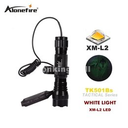 Wholesale Pressure Switch Flashlight - Tactical Flashlight 501B 2200Lm XM-L2 LED 1 mode Torch Pressure Switch Mount Light Gun flashlight