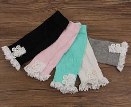 Discount christmas boot cuffs - New Women Lace Knitted button Boot Cuffs Leg Warmers Foot socks lace knit Girls Christmas leg warmers