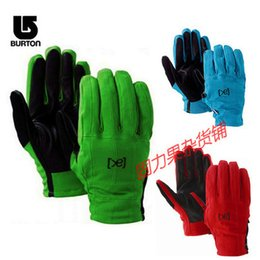 Wholesale Double Leather Glove - Wholesale-Snowboarding gloves double plate fingers Gloves pure leather waterproof gloves male models female models