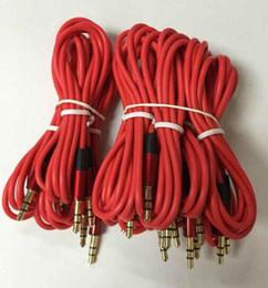 enchufes de banana envío gratis Rebajas Varón de 3.5mm al cable de extensión AUX estéreo macho Cable de audio para auriculares con micrófono envío