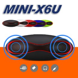 Wholesale Portable Box Speakers - Mini X6u Rugby Bluetooth Speaker Hands-free V3.0 Audio Portable Wireless Stereo Speakers MP3 Player Subwoofer U Disk TF Card With Retail Box