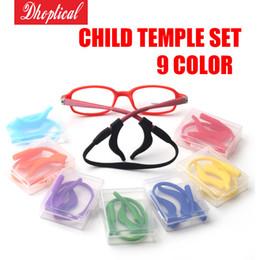 Wholesale Eyeglasses Temples - eyeglasses temple set, ear temple 9 different color child glasses temple ,10pcs wholesale free shipping for glasses shop