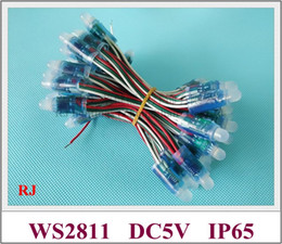 Wholesale Led 2811 - waterproof IP67 WS 2811 full color LED pixel light module LED exposed light string for sign letters PVC DC5V 0.3W WS2811 CE