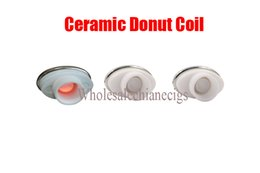 cigarette micro Promo Codes - 2016 full ceramic dual ceramic donut atomizer coil for elips micro gpen cloud pen ceramic electronic cigarette 0.5-0.7ohm for Box Mod