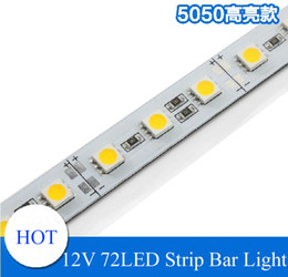 Wholesale Aluminum Led Rigid Strip Bar - Super Bright Hard Rigid Bar light DC12V 100cm 72led SMD 5050 Aluminum Alloy PCB Led Strip light For Cabinet Jewelry Display LED lighting