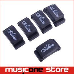 Wholesale Wholesale Celluloid Guitar Picks - 5PCS Alice A010CP Rubber Guitar Picks Plectrum Strings Holder Clamp Clip Black MU0668