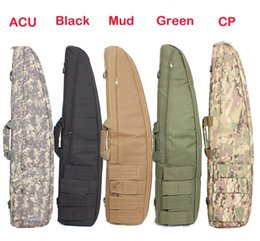 Wholesale Gun Case Green - Wholesale-Tactical Gun Bag 1.2M Heavy Duty Tactical Gun slip Bevel Carry Bag Rifle Case Shoulder Pouch for Hunting